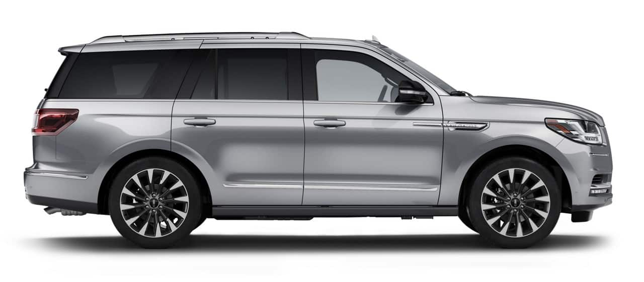 The 2021 Lincoln Navigator shown in Silver Radiance