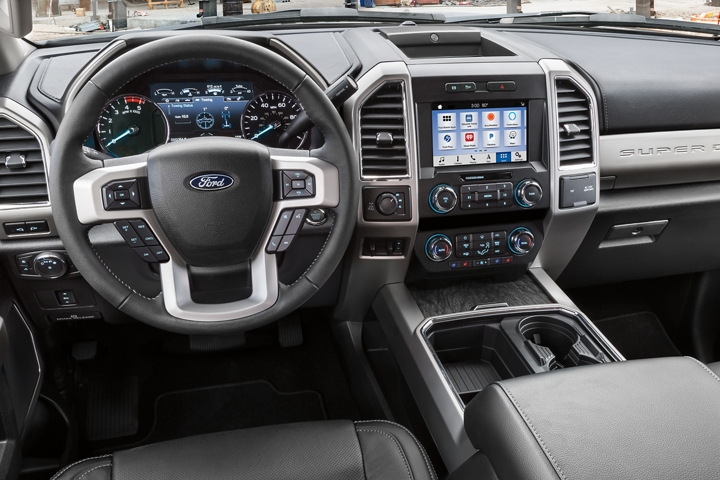 2021 Ford Super Duty Chassis Cab LARIAT interior shown in Black