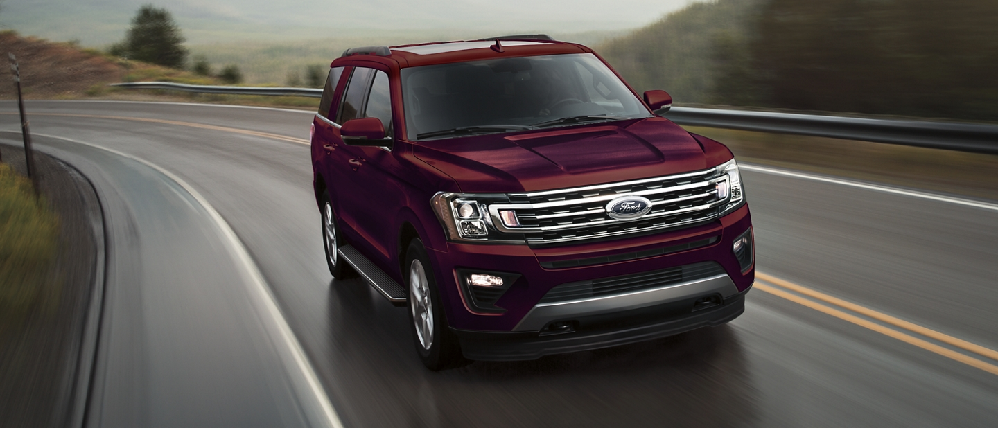 2021 Ford Expedition with 10 speed SelectShift automatic transmission on a mountain road